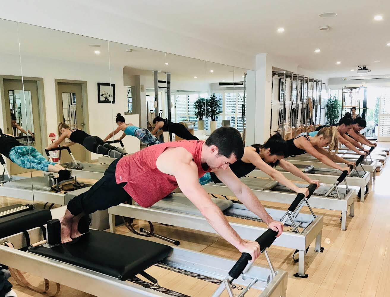 Authentic Pilates Studio Reformer Class